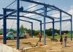 Stahlbau für Industriehalle